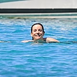 Liv Tyler took a dip in the water while vacationing in Spain on Tuesday.