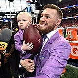 UFC fighter Conor McGregor with his son, Conor Jack McGregor Jr.