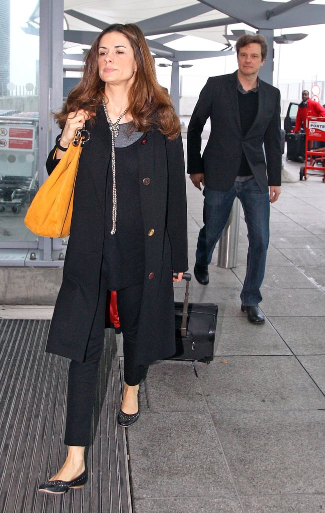 Colin Firth and his chic wife flew out from London and arrived in LA yesterday ahead of this weekend's big award season finale — the Oscars. Colin and Livia dined out with Tom Ford last night, who they last saw when they attended the BAFTAs and afterparties a fortnight ago, where The King's Speech swept the board. Livia was spotted by FabUK a couple of days ago at LFW, and they chatted about her Oscars dress and the future of eco fashion.