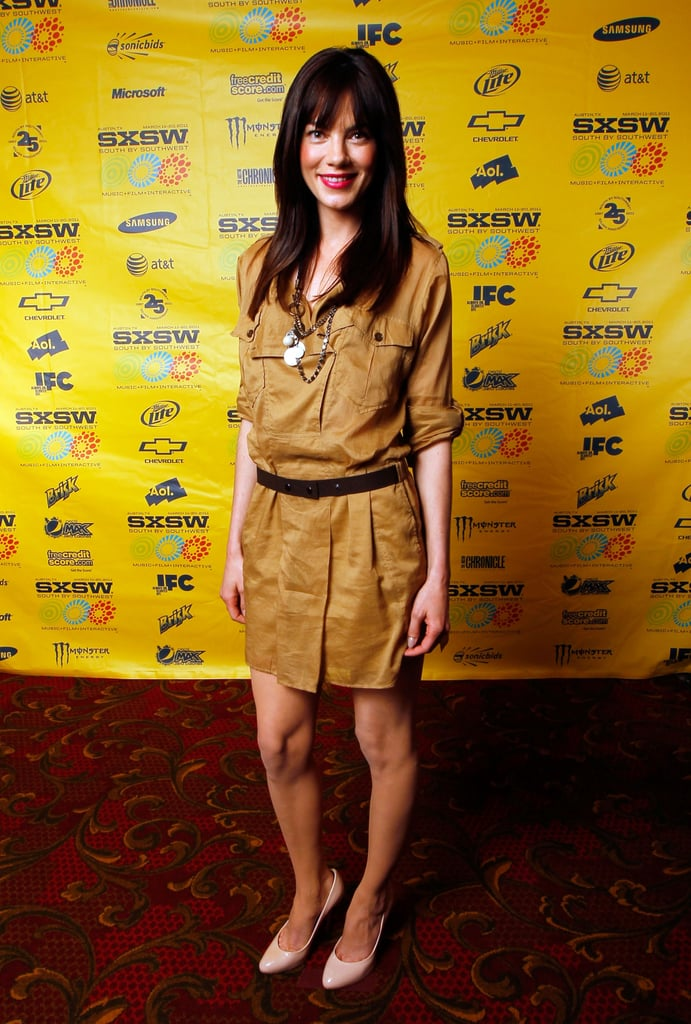 We loved Michelle Monaghan's Spring-styled little military dress.