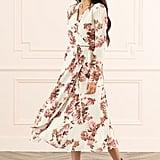 Rachel Parcell Long-Sleeved Wrap Midi Dress