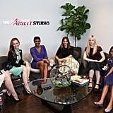 Kristen Stewart in See-Through Tee at Variety Studio