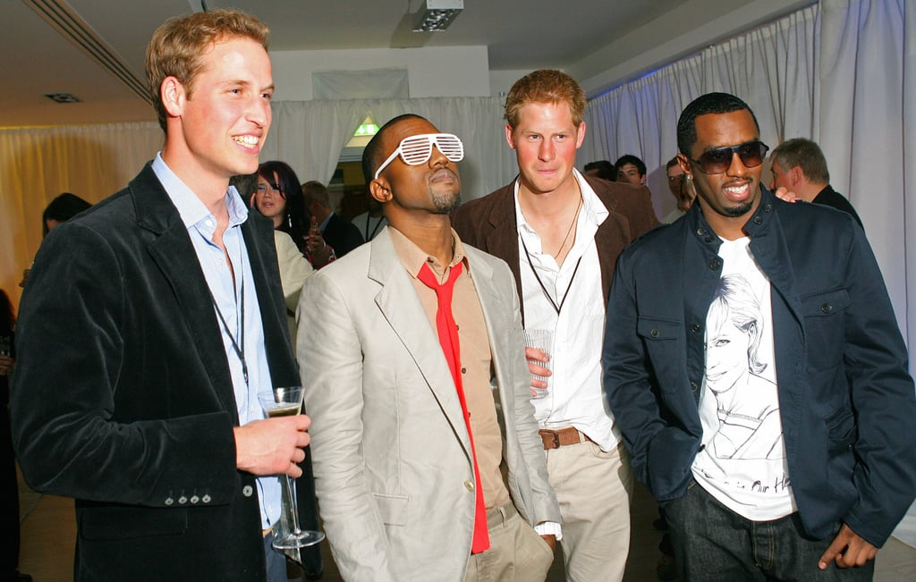 Prince William, Kanye West, Prince Harry, and Diddy