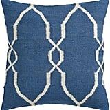 "Surya Juxtaposed Geometric Polyester Pillow, Blue, 22"" x 22"""