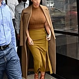 Kim Wore an Outfit Full of Neutrals For an Outing in Soho