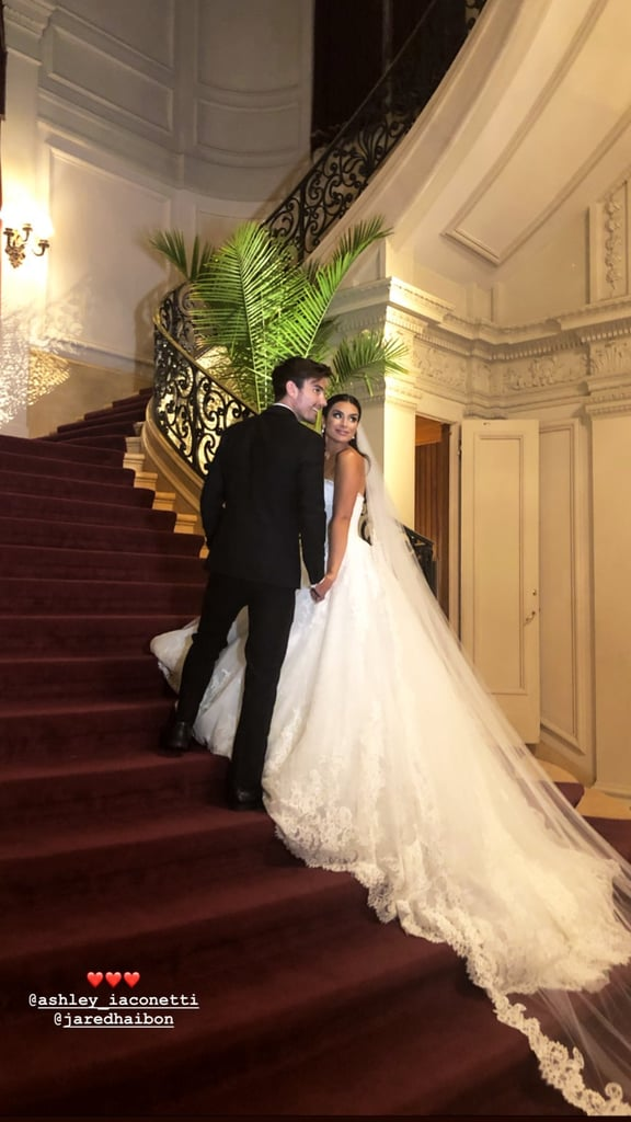 "It's official — Ashley Iaconetti and Jared Haibon are married! The Bachelor in Paradise alums tied the knot in a gorgeous ceremony in Rhode Island on Sunday, and you bet Bachelor Nation was front and centre. Ashley and Jared exchanged ""I dos"" in front of their family and friends, including Nick Viall, Kaitlyn Bristowe, Jason Tartick, Ben Higgins, Evan Bass, Carly Waddell, Becca Tilley, Olivia Caridi, JJ Lane, Dean Unglert, Chris Strandburg, Amanda Stanton, and producer Elan Gale, who officiated the ceremony. The 31-year-old star wore not one but two stunning dresses, while her 30-year-old beau looked dapper in a black tux.  The fete featured a pasta bar; personalized cocktails called ""Ashley's Tears,"" ""Jack and Rose,"" and ""The Brady Punch""; and a special performance by American Idol alum David Cook, who sang ""Ever the Same"" for the couple's first dance. Overall, it was a night to remember.  Ashley and Jared first met on the set of Bachelor in Paradise in 2015, and they began dating in May 2018. Despite their rocky start during and after the show, Jared and Ashley found a way to make their relationship work and are now husband and wife. Congrats to the newlyweds!"