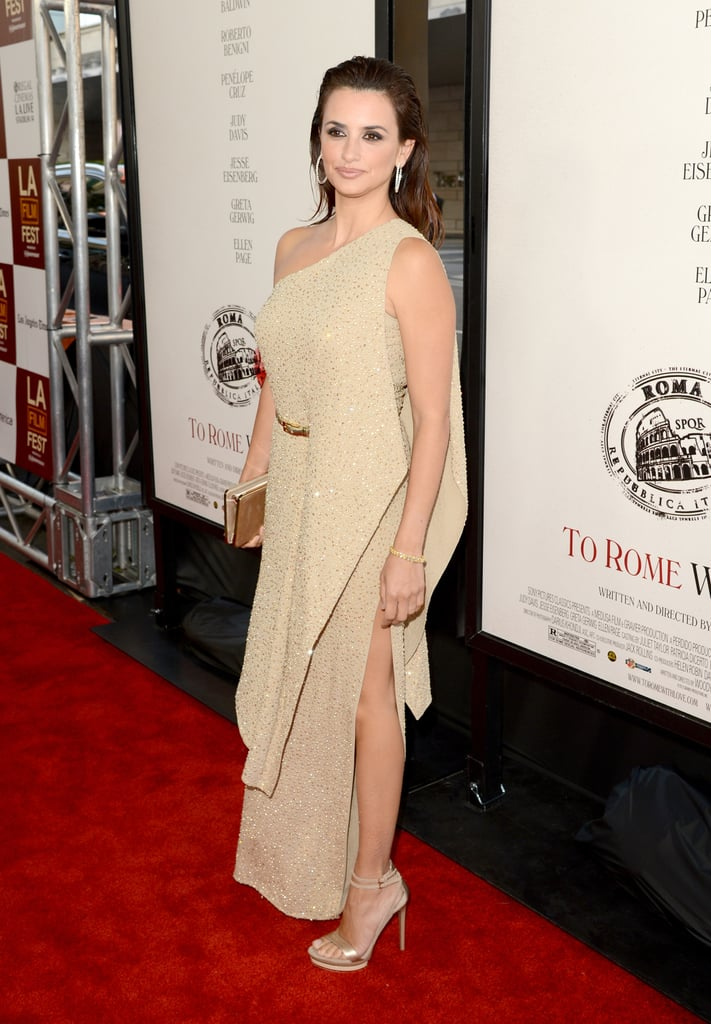 Penelope Cruz donned a Michael Kors gown for the premiere of To Rome With Love in LA.