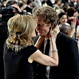 William H. Macy got a kiss from his wife, Felicity Huffman, after his big win for Shameless.