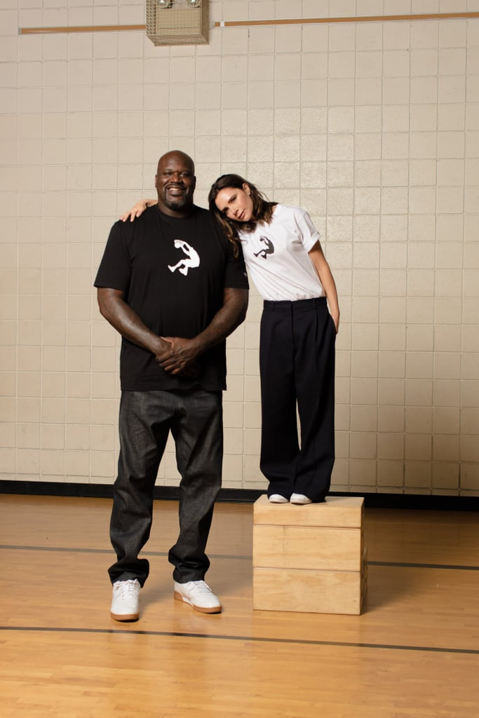 Victoria and Shaq Model The Reebok x Victoria Beckham '90s Tee