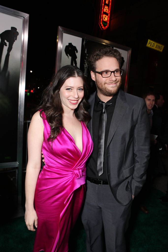 Seth Rogen's Fiancée  Flashes Engagement Ring by His Side at Green Hornet Premiere —Check Out Her Diamond!