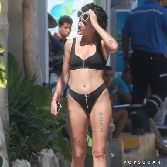 Halsey Black Bikini August 2018