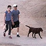 Anne Hathaway and Adam Shulman enjoyed an LA day.