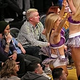 David Beckham at a Lakers Game.