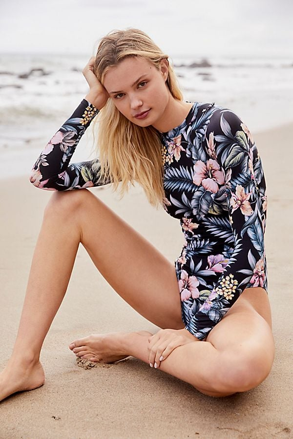South Pacific Long-Sleeved One-Piece Swimsuit