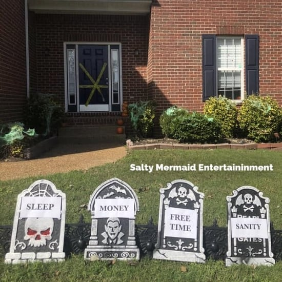 Mom's Parenting Tombstone Halloween Decorations
