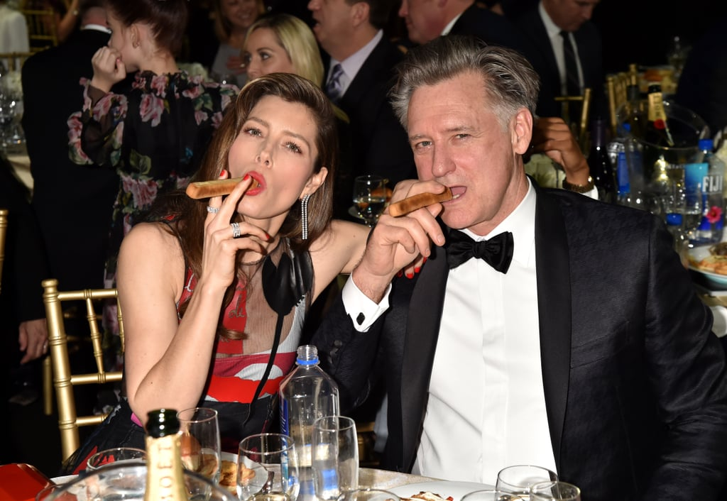 Pictured: Jessica Biel and Bill Pullman