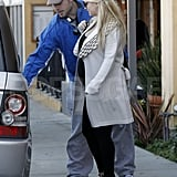 Eric Johnson opened the door for pregnant Jessica Simpson.