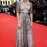 The rain didn't stop Emma wearing a beautiful Ossie Clark gown in 2009 at The Half-Blood Prince premiere.