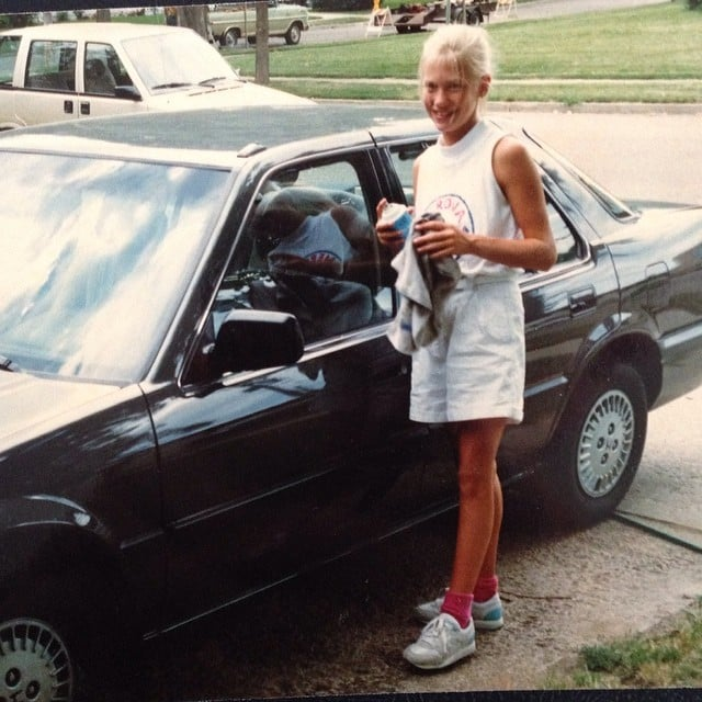 """""""#tbt to when I'd wash the honda with a smile for extra cash. #gottahustlebitches"""""""