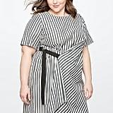 Eloquii Wrap Front Detail Dress