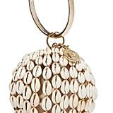 Rosantica Lira gold-tone, bead and shell tote