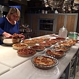 Martha Stewart showed off her baking marathon.  Source: Twitter user MarthaStewart