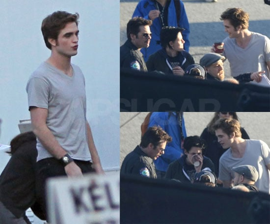 Photos of Robert Pattinson and Kristen Stewart Filming Eclipse
