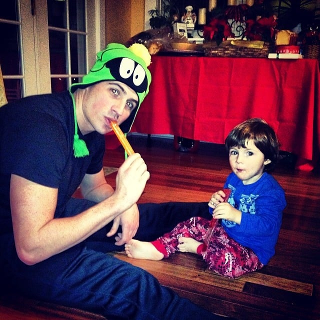 Ryan Lochte enjoyed a Popsicle with his nephew.  Source: Instagram user ryanlochte