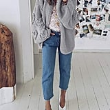 Simplee Oversized Knit Cardigan
