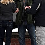 Pictures of Matt Damon Filming Contagion