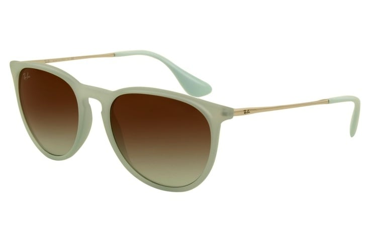 If you're looking for a subtle way to add a pastel pop to your look, these are it.  Ray-Ban Erika Sunglasses ($109)