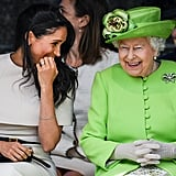 Meghan Markle and Queen Elizabeth II shared a laugh during their first official engagement in June 2018.