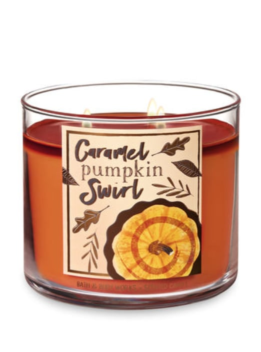 Caramel Pumpkin Swirl Three-Wick Candle