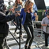Cindy Crawford and Kaia Gerber Wearing Black Skinny Jeans in 2015