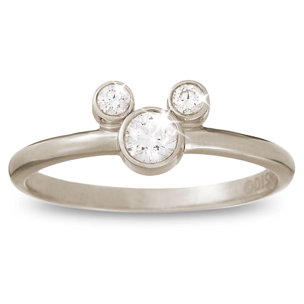 18-karat white gold Diamond Mickey Mouse Icon Ring ($1,375)