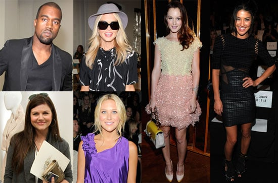 Leighton Meester, Jessica Szohr, Rachel Zoe, Kanye West at New York Fashion Week