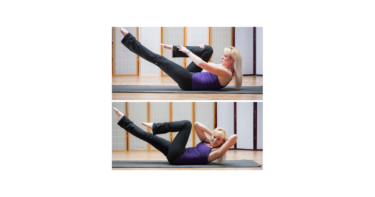 Single Leg Stretch And Criss Cross Yoga And Pilates