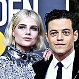 Rami Malek and Lucy Boynton at the Golden Globes 2020