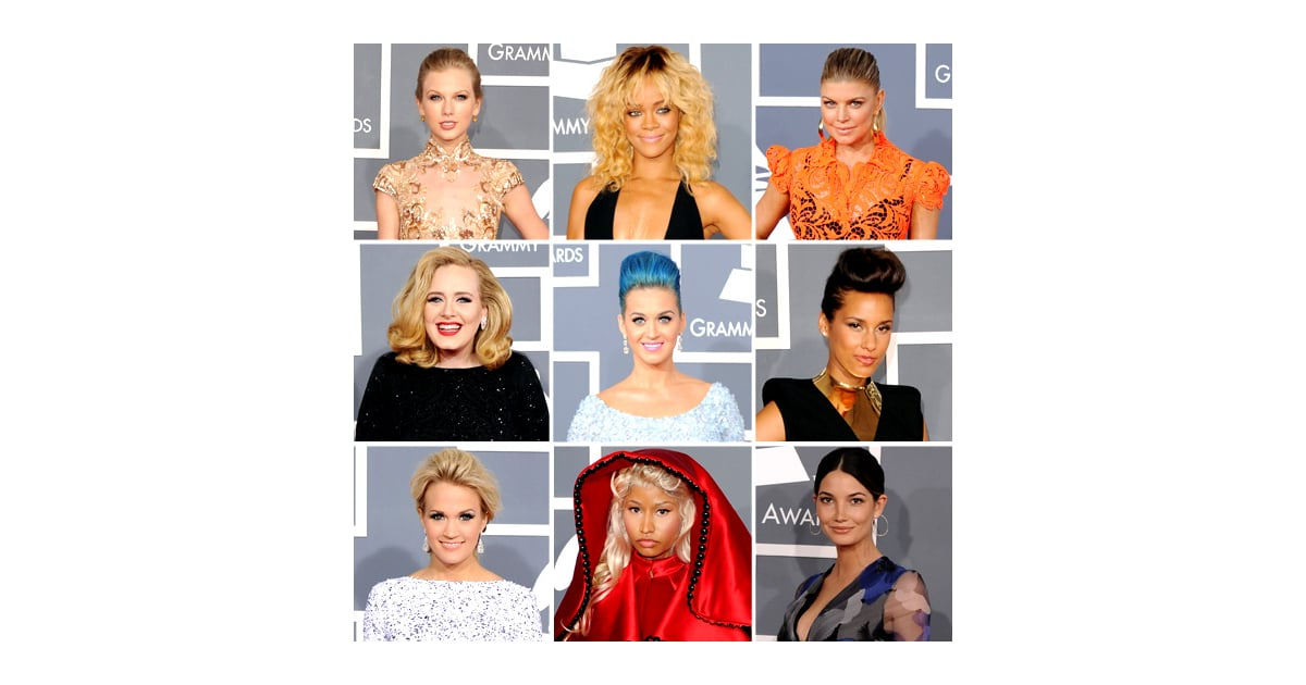 grammys 2012 red carpet fashion popsugar fashion