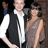 She and Chris Colfer arrived together to a Fox party in Culver City, CA, in September 2011.