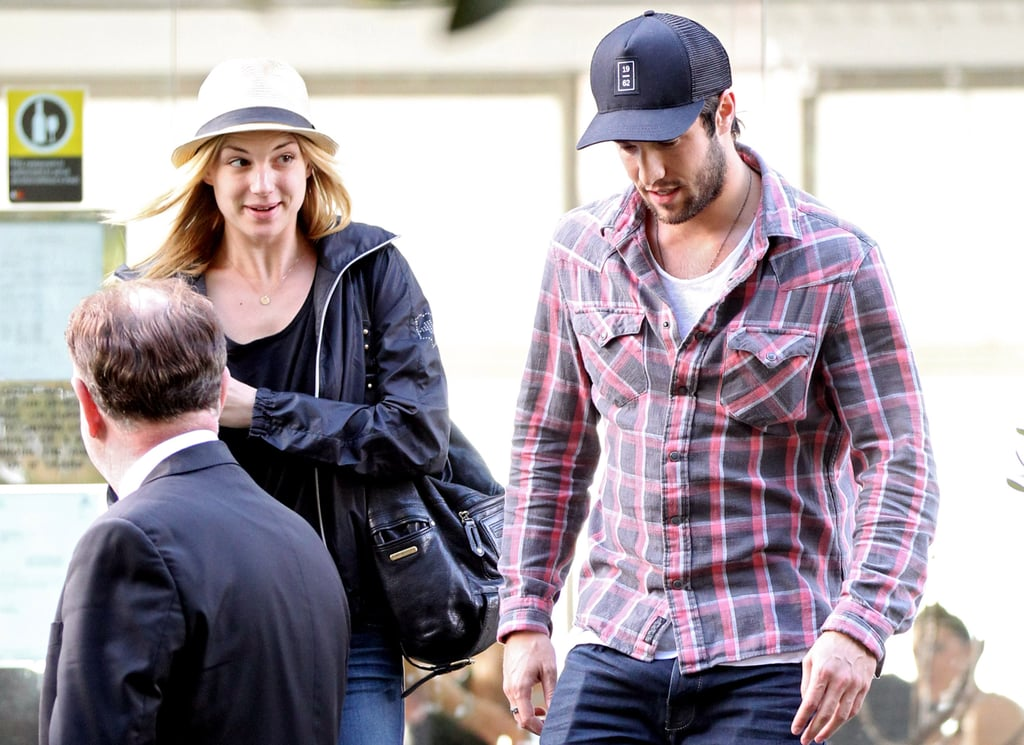 Joshua Bowman and Emily VanCamp both wore hats.