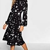 Tie Neck Star Print Midi Dress ($34.20, originally $57)