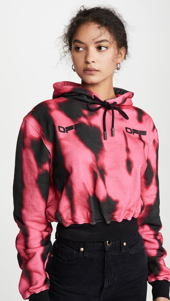 Off-White Tiger Dye Cropped Hoodie