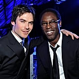 Ian Somerhalder and Isaiah Washington posed before presenting together.