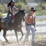 Justin Bieber Goes For a Shirtless Horseback Ride