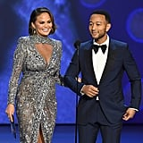 Chrissy Teigen and John Legend at the 2018 Emmy Awards