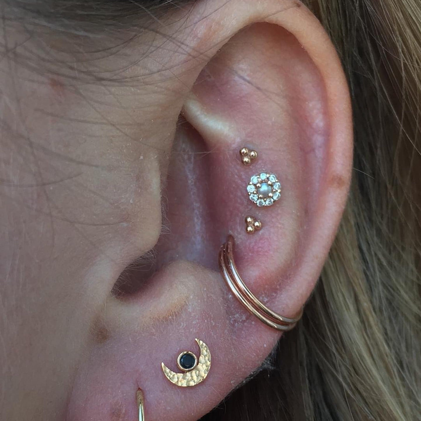 Triple Conch Piercing Trend Popsugar Fashion Australia