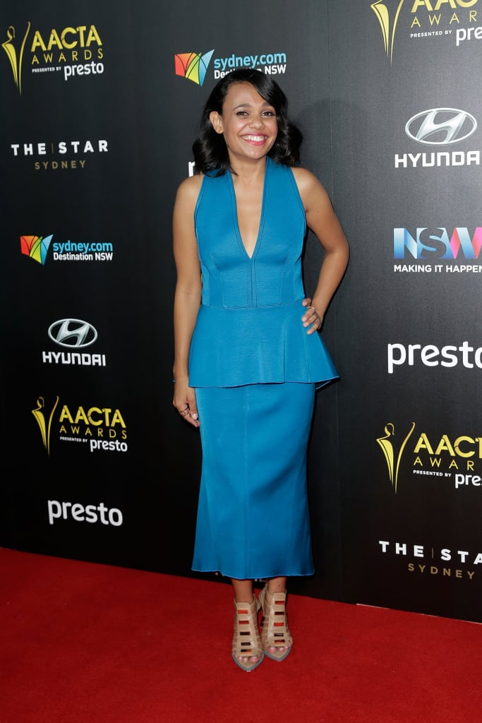 POPSUGAR Australia: So what were you looking forward to at the AACTAs?  Miranda Tapsell: Well I was excited, in particular because my friends Sarah Snook, Harriet Dyer and Deborah Mailman were all nominated, in different categories of course. It just means so much to me to see them [get recognised]. It's hard because some of them were up against one another and I really wanted them all to win.  PS: Do you find it's a very supportive community, this industry?   MT: Of course it is! Yeah, yeah, 100 percent.  PS: Did you expect your speech to go viral at the Logies?  MT: No, no! Not at all. It's very cool. It just meant so much to a wide range of girls, a wide diversity of girls. For me to have that impact meant a lot and all I can do is say what I feel and be honest. It's just so great that so many wonderful young women were influenced.  PS: And what can we expect from the next season of Love Child?  MT: It's um . . . Oh, well, you kind of have to watch it babe! [Laughs] There are lots of wonderful things to happen with Martha [her character] so I can't wait for you to see it.  PS: I can't imagine you get much time to watch TV but when you do, what's your favourite thing to watch?   MT: My favourite shows, right — I'm completely nerding out here — How to Get Away With Murder. Love it. Scandal, and I also love Orange Is the New Black. Totally fangirling over those ones.