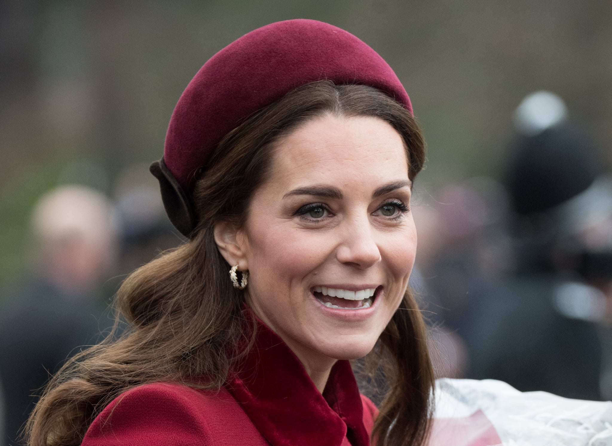 KING'S LYNN, ENGLAND - DECEMBER 25: Catherine, Duchess of Cambridge attends Christmas Day Church service at Church of St Mary Magdalene on the Sandringham estate on December 25, 2018 in King's Lynn, England. (Photo by Samir Hussein/WireImage)