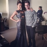 Jessica Alba and Brad Goreski posed together before Jessica took off for the event with Tory Burch. Source: Instagram user mrbradgoreski